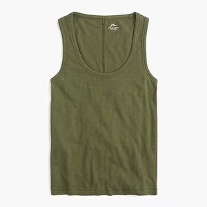 JCREW Vintage Cotton Tank Top Frosted Olive